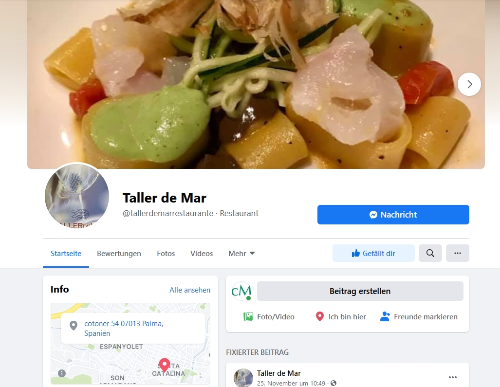 Facebook Taller de Mar Restaurant